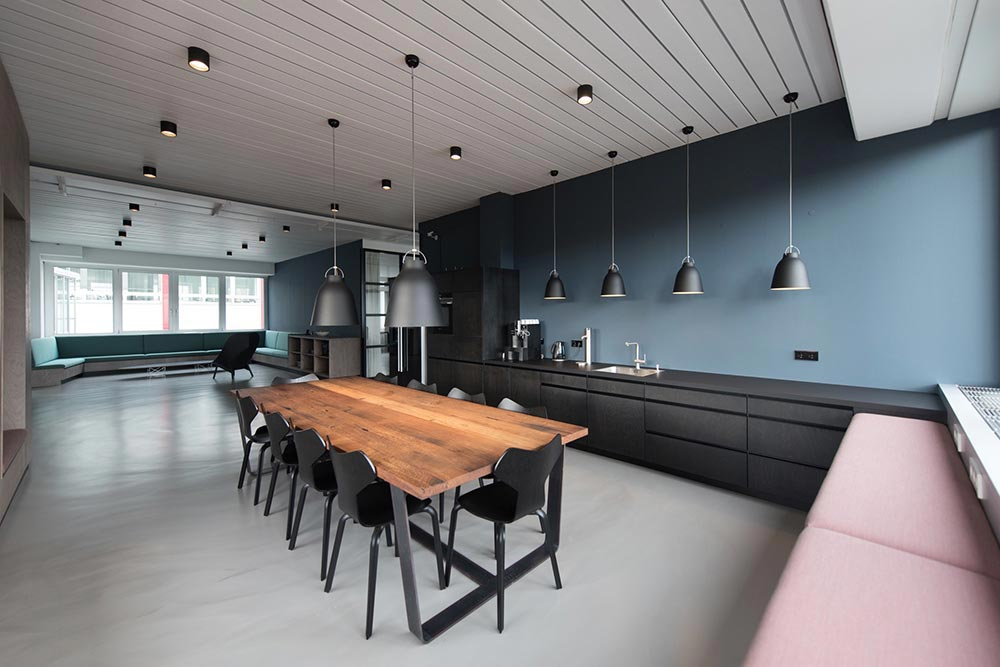 Large Modern Kitchen With New Windows