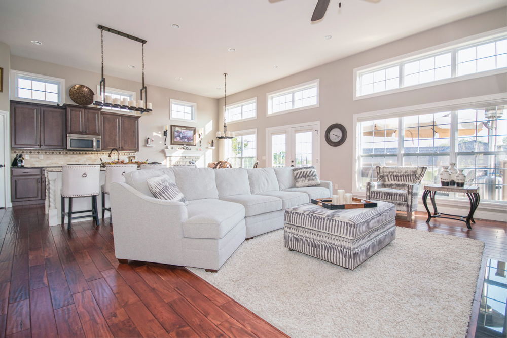 Large Windows In Living Room With Lots Of Light