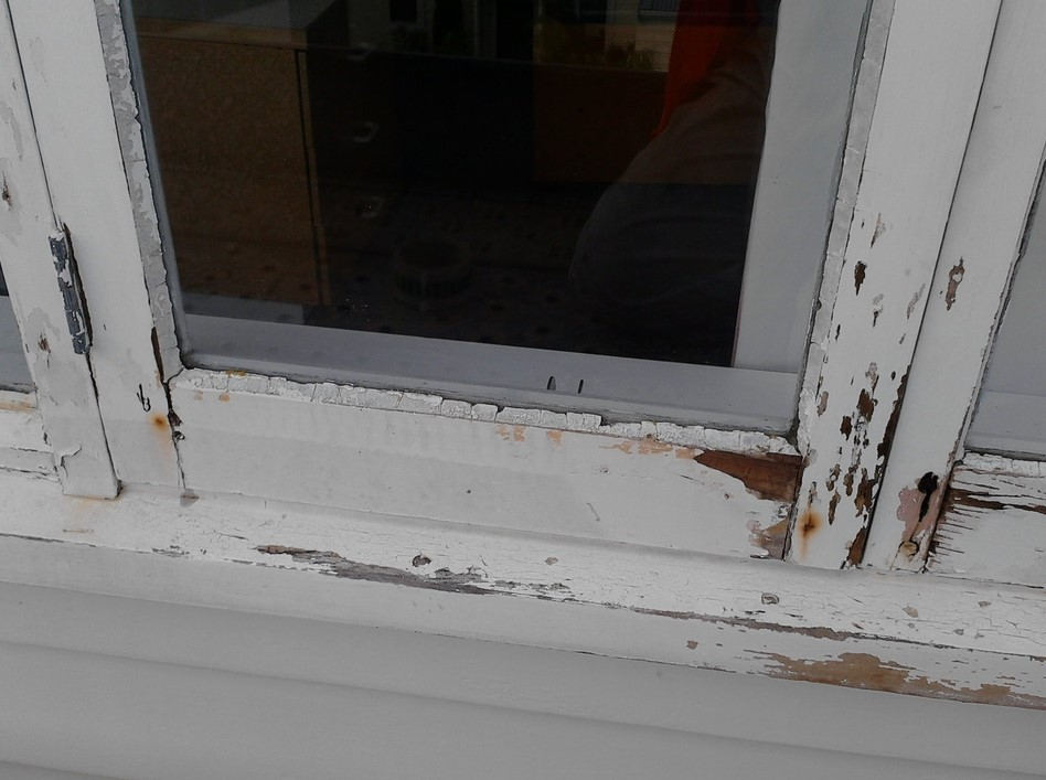 Rotting Window Frame